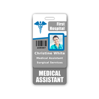 MEDICAL ASSISTANT Badge Buddy Vertical Standard Size