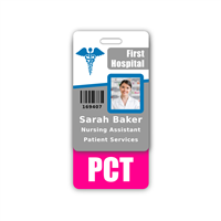 PCT Badge Buddy Vertical Standard Size