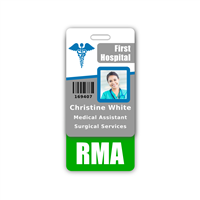 RMA Badge Buddy Vertical Standard Size