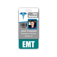 EMT Badge Buddy Vertical Standard Size