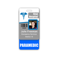 PARAMEDIC Badge Buddy Vertical Standard Size