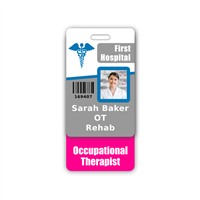 Occupational Therapist Badge Buddy Vertical Standard Size