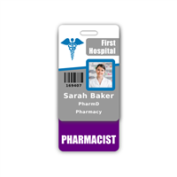 PHARMACIST Badge Buddy Vertical Standard Size