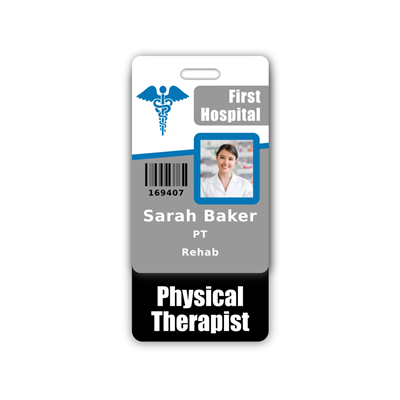 Physical Therapist Badge Buddy Vertical Standard Size