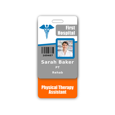 Physical Therapy Assistant Badge Buddy Vertical Standard Size