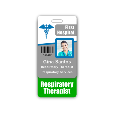 Respiratory Therapist Badge Buddy Vertical Standard Size