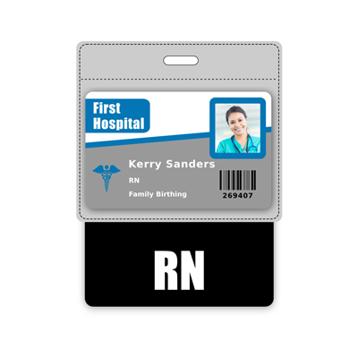 RN Badge Buddy Horizontal Oversized