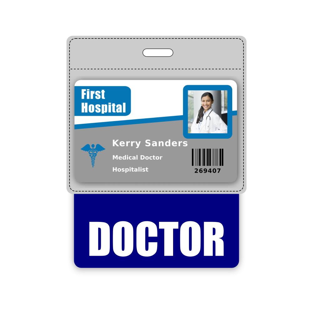 DOCTOR Badge Buddy Horizontal Oversized