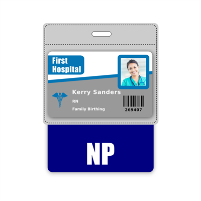 NP Badge Buddy Horizontal Oversized