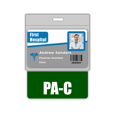PA-C Badge Buddy Horizontal Oversized