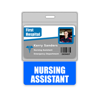 NURSING ASSISTANT Badge Buddy Horizontal Oversized