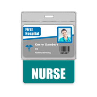 NURSE Badge Buddy Horizontal Oversized