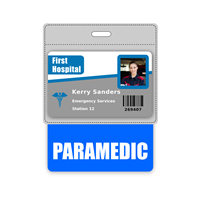 PARAMEDIC Badge Buddy Horizontal Oversized