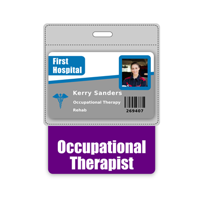 Occupational Therapist Badge Buddy Horizontal Oversized