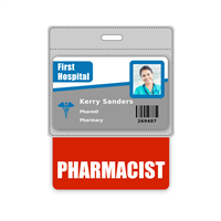 PHARMACIST Badge Buddy Horizontal Oversized