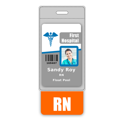 RN Badge Buddy Vertical Oversized