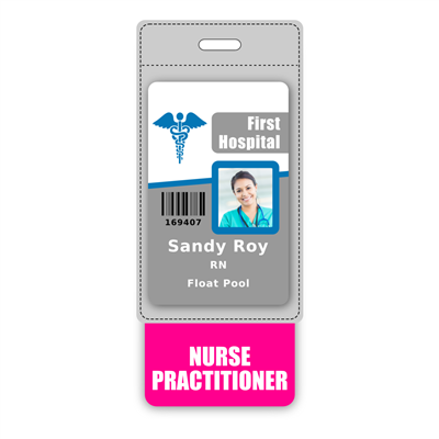 NURSE PRACTITIONER Badge Buddy Vertical Oversized