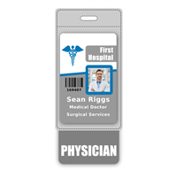 PHYSICIAN Badge Buddy Vertical Oversized