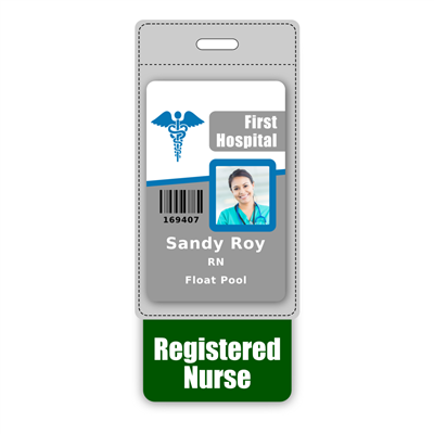 Registered Nurse Badge Buddy Vertical Oversized