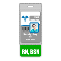 RN, BSN Badge Buddy Vertical Oversized