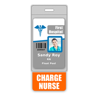 CHARGE NURSE Badge Buddy Vertical Oversized