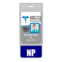 NP Badge Buddy Vertical Oversized