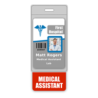 MEDICAL ASSISTANT Badge Buddy Vertical Oversized