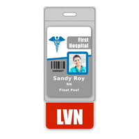 LVN Badge Buddy Vertical Oversized