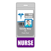 NURSE Badge Buddy Vertical Oversized