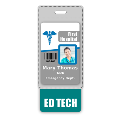 ED TECH Badge Buddy Vertical Oversized