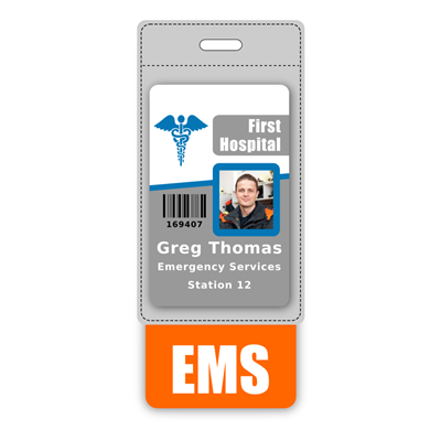EMS Badge Buddy Vertical Oversized