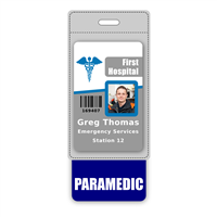 PARAMEDIC Badge Buddy Vertical Oversized