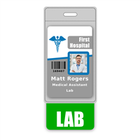 LAB Badge Buddy Vertical Oversized