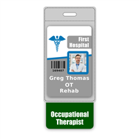 Occupational Therapist Badge Buddy Vertical Oversized