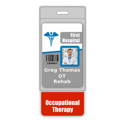 Occupational Therapy Badge Buddy Vertical Oversized