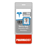 PHARMACIST Badge Buddy Vertical Oversized