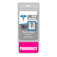 PHARMACY Badge Buddy Vertical Oversized