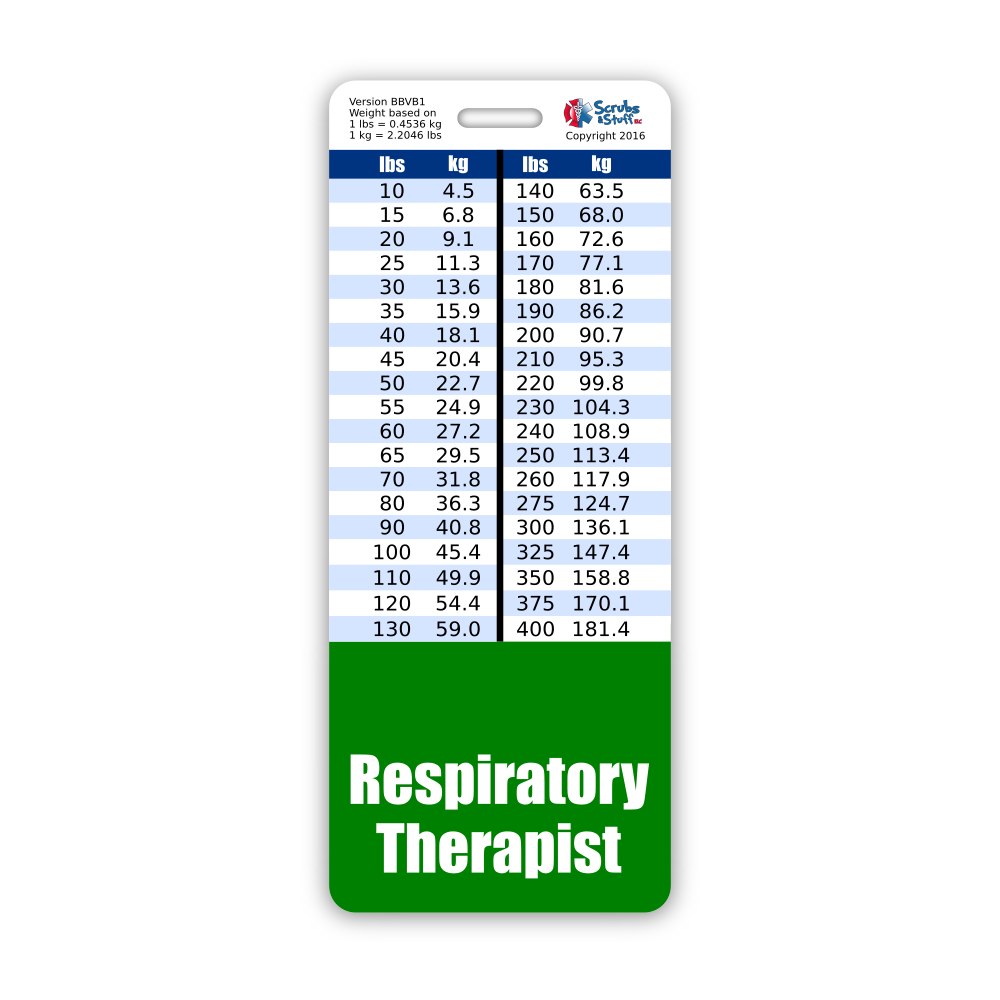 Respiratory Therapist Badge Buddy by BadgeZoo Green with Big Lungs Horizontal Badge Id Card