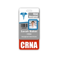 CRNA Badge Buddy Vertical Standard Size
