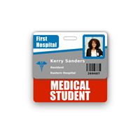 Medical Student Badge Buddy Horizontal Standard Size