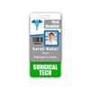 Surgical Tech Badge Buddy Vertical Standard Size