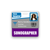 Sonographer Badge Buddy Horizontal Standard Size