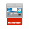 Anestheisologist Badge Buddy Horizontal Oversized