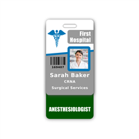 Anestheisologist Badge Buddy Vertical Standard Size