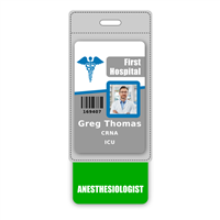 Anesthesiologist Badge Buddy Vertical Oversized