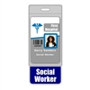 Social Worker Badge Buddy Vertical Oversized