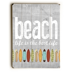 Beach Boards Wood Sign