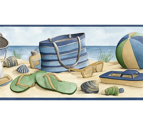 Beach Wall Border By Surf Room Designer Dean Miller