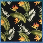 Black Birds of Paradise Throw Pillow