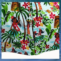 Hula Girls Fabric Bed Skirt